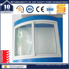 Residential Frame Obscure Glass Honrizontal Sliding Aluminum Window